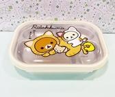 【震撼精品百貨】Rilakkuma San-X 拉拉熊懶懶熊~拉拉熊不銹鋼餐盤-黃#20297