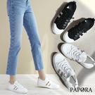 PAPORA透氣網狀設計懶人休閒布鞋輕便鞋小白鞋KK304