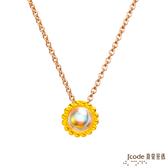 J'code真愛密碼 小太陽黃金/水晶墜子 送項鍊