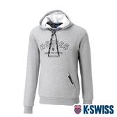 K-SWISS Embossed KS Logo Hoodie連帽上衣-男-淺灰
