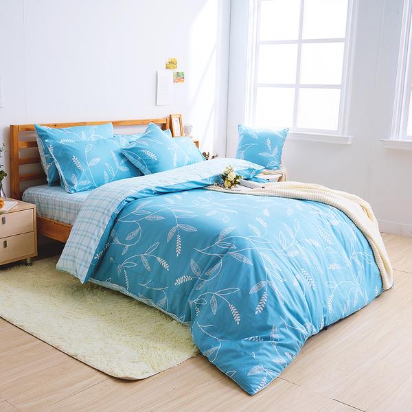 床包兩用被組 / 雙人【小葉曲】含兩件枕套 100%精梳棉 戀家小舖台灣製AAS215