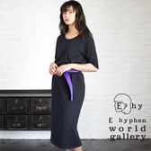 ❖ Autumn ❖ 素面口袋長版連身洋裝 - E hyphen world gallery