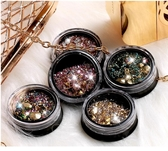 美甲混鑽飾品指甲鑽石美甲水鑽新款大鑽閃小柳丁金屬鏤空 莎瓦迪卡