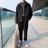 秋冬季新款男士小西服兩件套裝上衣百搭休閒韓版潮流直筒西褲 【原本良品】
