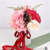 文仙亦言結婚新款韓式手捧花仿真玫瑰婚禮手捧花束婚紗照拍攝道具魔方數碼館