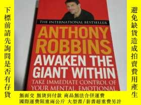 二手書博民逛書店ANTHONY罕見ROBBINS AWAKEN THE GIAN