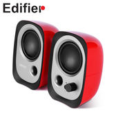 【台中平價鋪】全新 Edifier 漫步者 R12U 2.0聲道二件式喇叭 紅