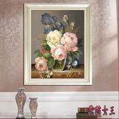 3D十字繡 新款客廳線繡臥室小幅小件花卉歐式油畫花瓶 BF18374【花貓女王】