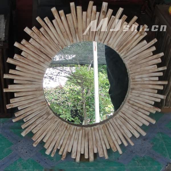 東南亞風格  進口柚木傢俱 樹技壁掛鏡