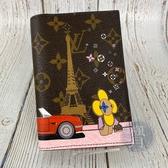 BRAND楓月 LOUIS VUITTON LV M68493 艾菲爾鐵塔 印花 卡片收納 護照夾 資料夾