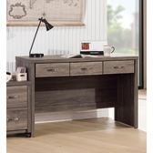 【森可家居】亞瑟4尺三抽書桌(不含活動櫃) 8SB227-6 辦公桌木紋質感 北歐工業風 MIT 台灣製造