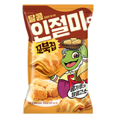 好麗友 烏龜玉米脆片-韓國烤麻糬80G【愛買】