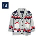 Gap男嬰兒北極熊圖案開襟針織衫524375-淺麻灰