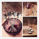 時尚可愛不銹鋼花形湯匙 咖啡攪拌勺 咖啡勺(五入)