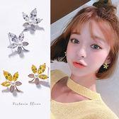 925純銀針  韓國優雅氣質 楓葉耳環-維多利亞181165