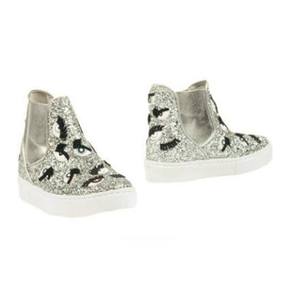 MONSTERS半筒厚底鞋-銀色