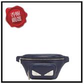 FENDI白怪獸眼皮革腰包/藍7VA446全新商品