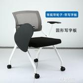培訓椅 培訓椅會議椅帶寫字板網布簡約折疊椅子電腦辦公椅【朵拉朵YC】