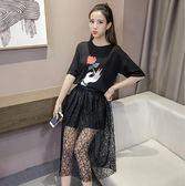 2017女夏季中長款文藝學院風連衣裙兩件套Eb13208『東京衣社』