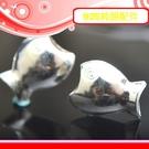 銀鏡DIY S925純銀DIY材料配件/Q版膨膨大嘴魚兒H~適合串珠手作蠶絲蠟線/幸運衝浪繩(非合金)