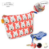 觸控手機袋-&Smart帆布觸控手機小斜背包-亮橘熊-玄衣美舖