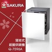 【有燈氏】櫻花 落地型 50cm 60cm 殺菌烘碗機 內桶白鐵 無門板【Q-7596A】