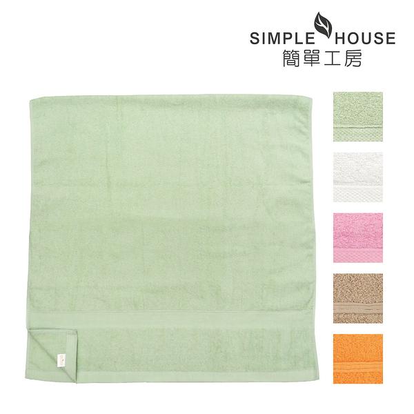 【買一送一】素色緞檔浴巾 100%棉 台灣製造 [ 顏色隨機 ]