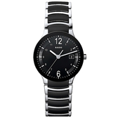 RADO 雷達 Centrix 晶萃陶瓷石英錶-黑/38mm R30934152