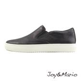 【Joy&Mario】純色時尚厚底休閒男鞋 - 82078M BLACK