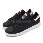 adidas 休閒鞋 Stan Smith W 黑 粉紅 女鞋 運動鞋 【PUMP306】 EE5866