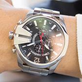 DIESEL 經典黑錶盤三眼計時腕錶 DZ4308 熱賣中!