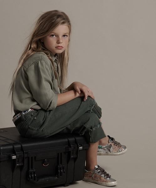 ONETEASPOON KIDS VINTAGE KHAKI BANDIT JEAN牛仔褲-童裝(綠)