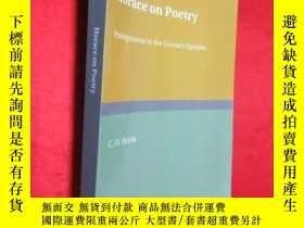 二手書博民逛書店Horace罕見on Poetry: Prolegomena t