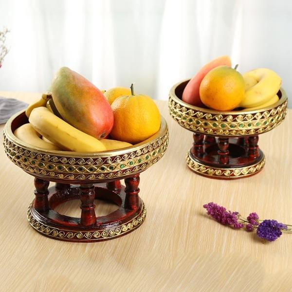 東南亞實木果盤 泰國進口佛堂供佛大水果盤客廳茶幾