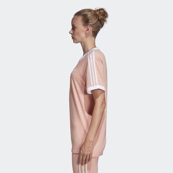 ★現貨在庫★ Adidas 3-Stripes Tee 女裝 短袖 休閒 純棉 粉【運動世界】DV2583