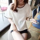 (全館免運)  -短袖T恤 韓版休閒寬鬆圓領T恤 (T-0713 )均碼