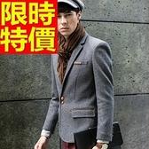 毛呢外套-羊毛修身雙扣翻蓋男西裝外套63af13【巴黎精品】