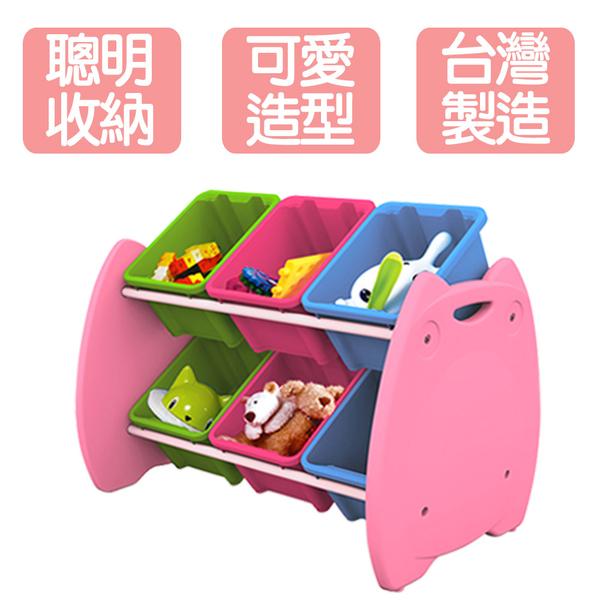 《遊戲寶貝》喵頭鷹六格玩具收納架
