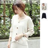 出清 開襟外套 純棉 寬羅紋 V領 除臭 免運費 日本品牌【coen】