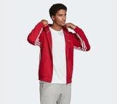 Adidas MH 3S HOODIE 男款紅色連帽外套-NO.EK4542