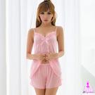 性感睡衣 迷人訊號!細緻柔緞二件式睡衣 SEXYBABY 性感寶貝KNA13020091