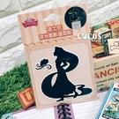 迪士尼貼紙 長髮公主 樂佩公主 夜光剪影造型壁貼 夜光貼 開關貼 轉印夜光貼 防水貼 COCOS TK030