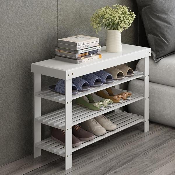 竹世界鞋架子簡易多層防塵多功能鞋櫃換鞋凳經濟型家用宿舍省空間wy 快速出貨