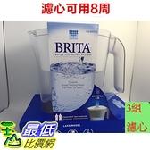 [現貨] Brita Lake (最高容量4L) 2.4L 新型 10杯 濾水壺 (含3支8周圓形濾心) 可過濾151公升