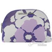 茱麗葉精品【全新現貨】MICHAEL KORS Jet Set Travel 花朵萬用包/化妝包.紫色