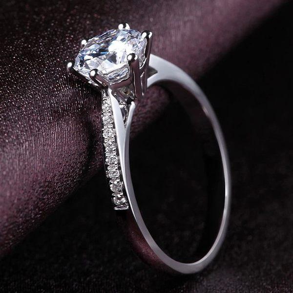 售完即止-戒指925微鑲碎鑽女款求婚訂婚結婚戒指八心八箭一克拉仿真鑽戒11-22(庫存清出S)
