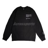 NIKE 長袖T恤 NSW Swoosh Top 黑 白 男款 大學T 運動休閒 【ACS】 CU4035-010