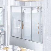 【麗室衛浴】  德國 DUSCHOLUX   頂級豪宅配備 落地型/ 缸上型3片式拉門  140~180CM