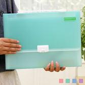 創意13格A4多功能果凍色半透明手提文件夾 文件袋 文件包 風琴包  《YV3735》HappyLife