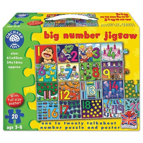 【英國 Orchard Toys】遊戲拼圖-數字認知 OT-237